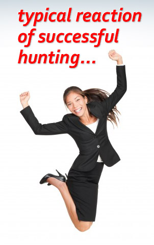 typical response of successful hunting